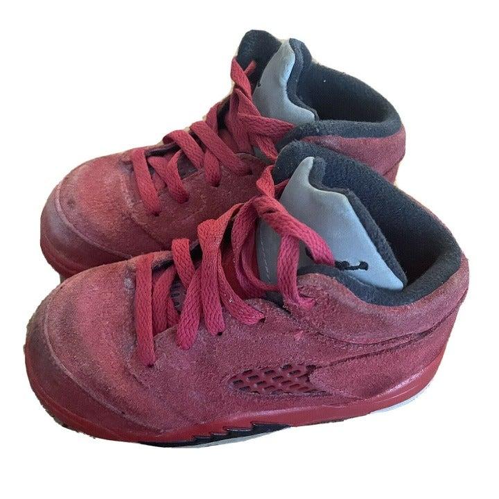 Nike Air Jordan Red Suede shoes toddler