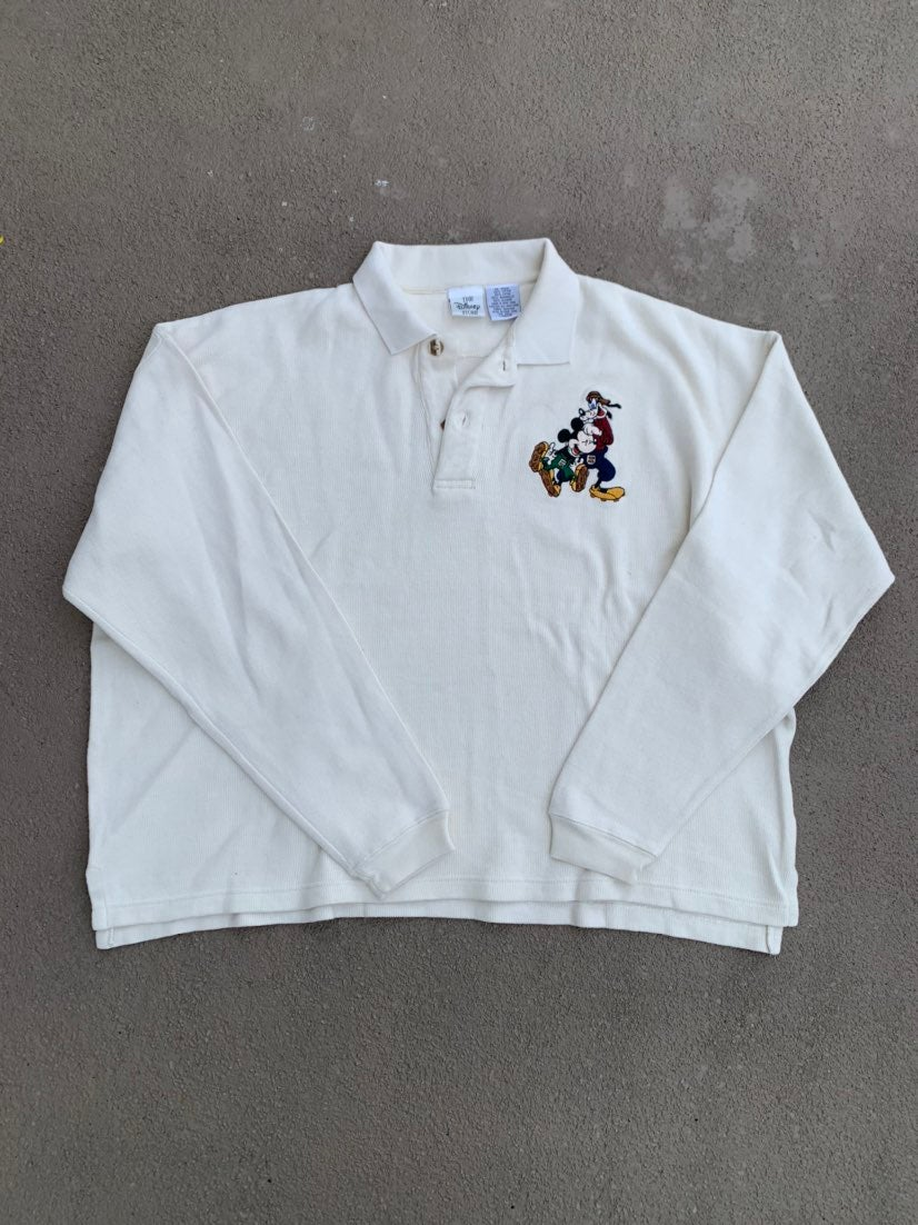 Vintage Disney Embroidered Polo Pullover