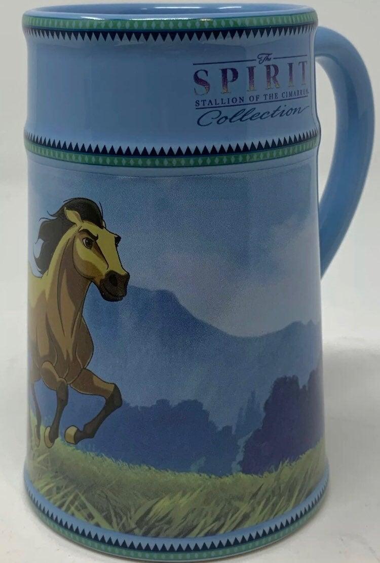 Spirit Stallon Hourse Blue Mug Cup Stein