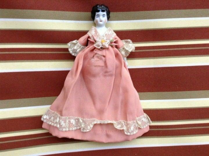 Glazed Porcelain Head Doll 1800s