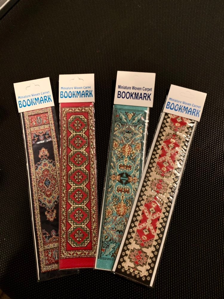 Fabric woven carpet vintage bookmarks