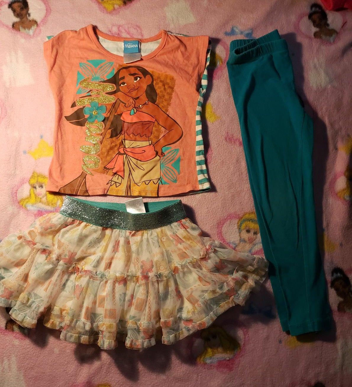 Cute girls Moana outfit 4t