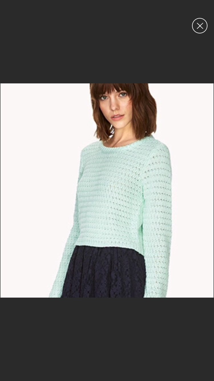 Forever 21| Cropped Mint Sweater
