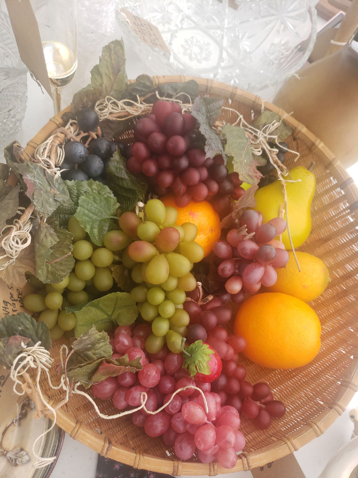 Vintage Fruit in Wicker Basket
