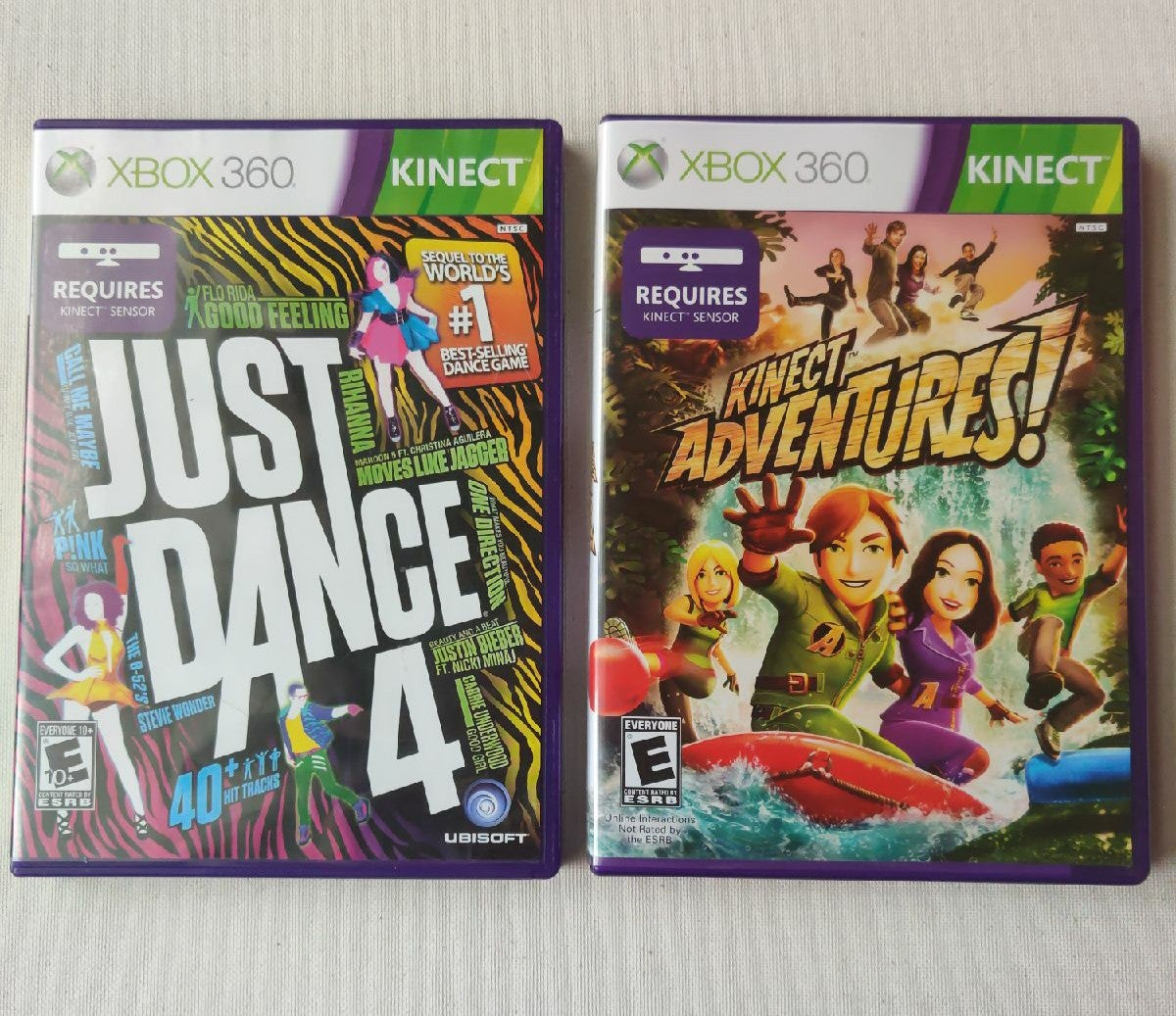 Just Dance 4 and Kinect Adventures Xbox