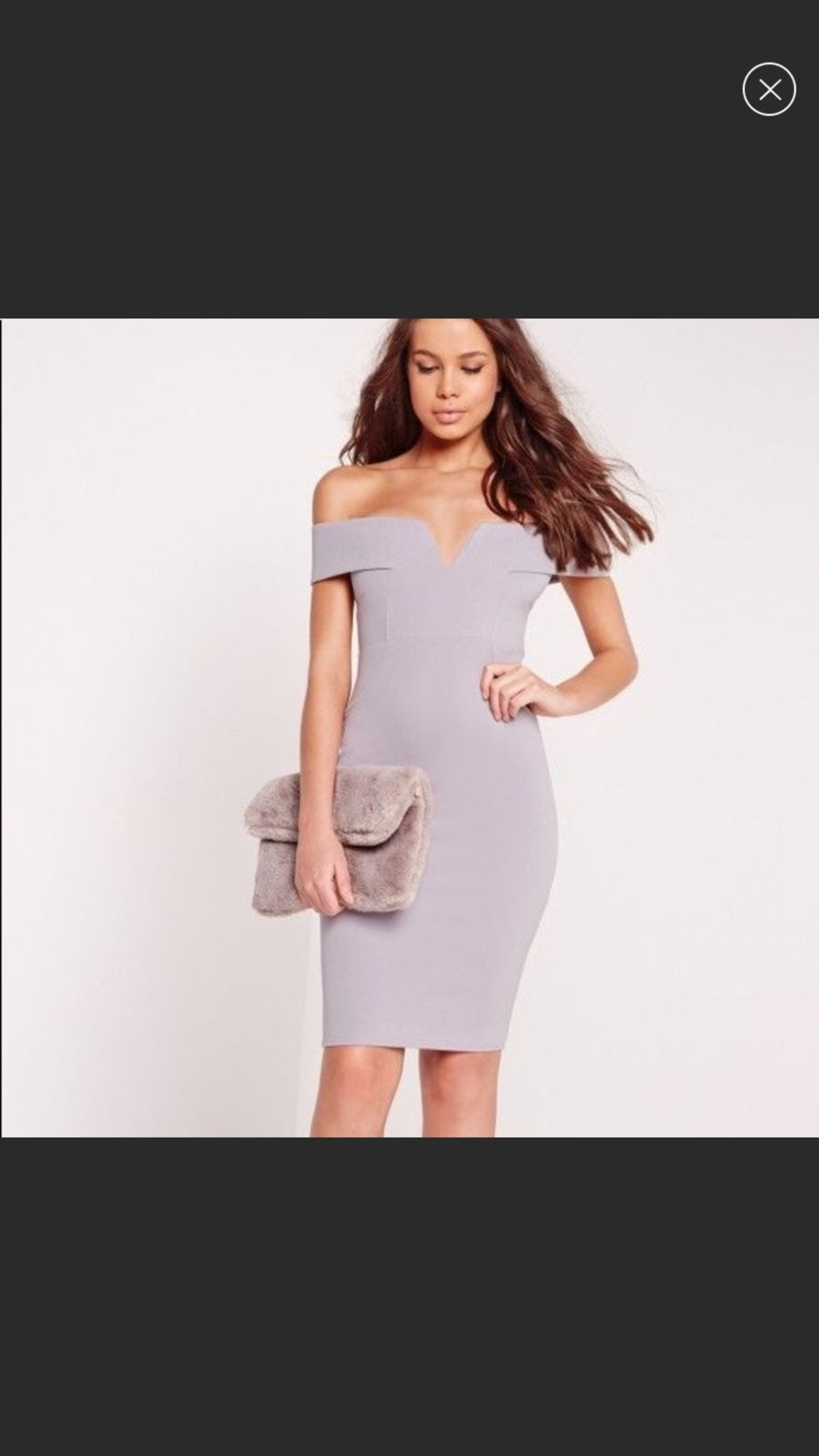 Missguided off the shoulder midi dress