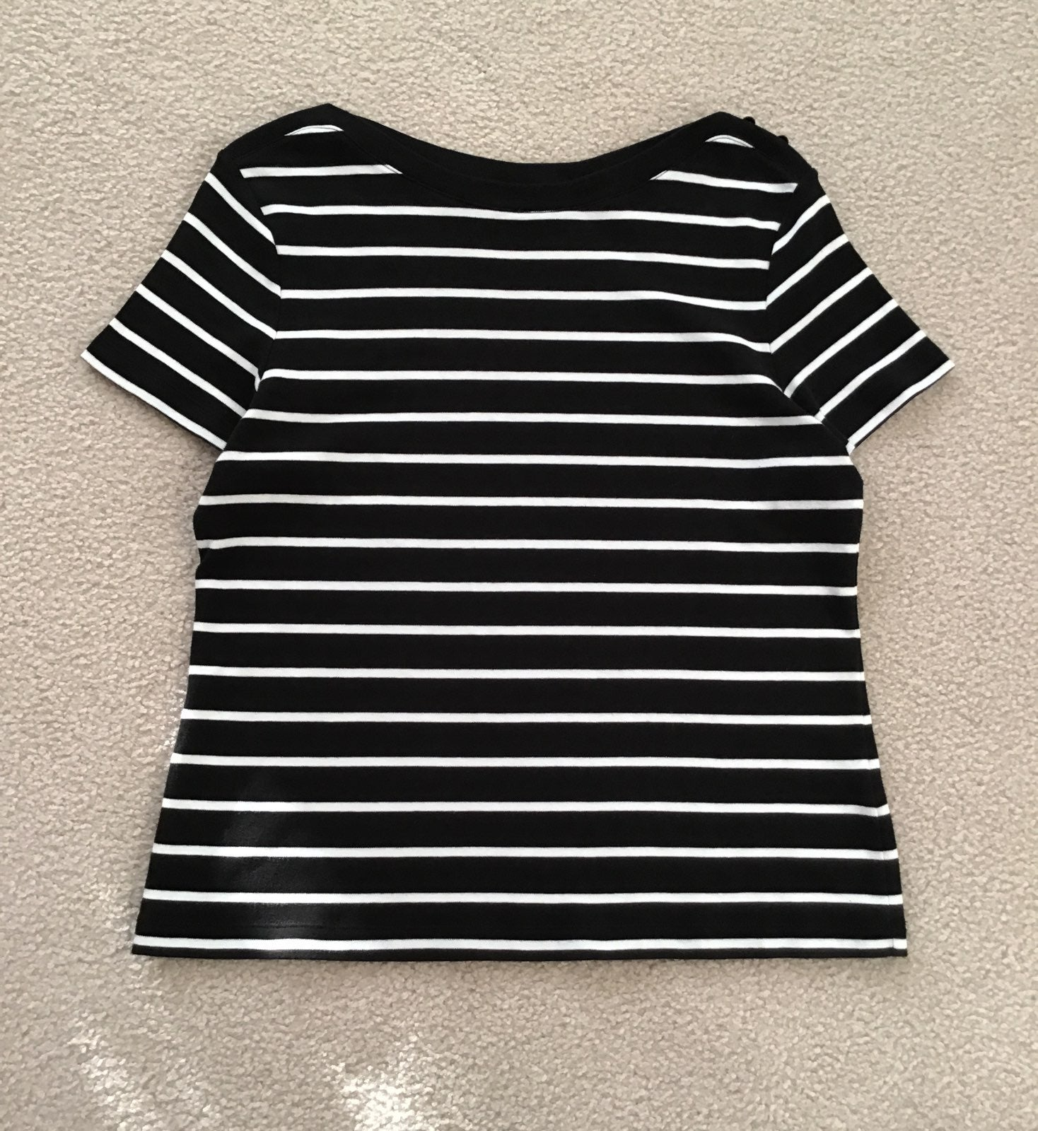 Black & White Stripe Casual Top