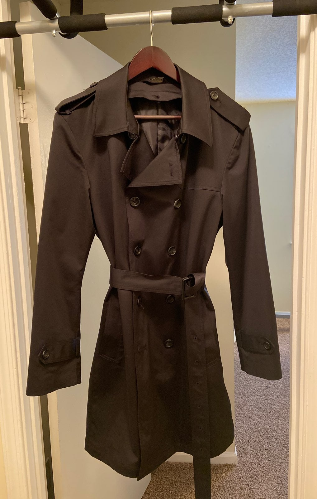 Jos A. Bank Trench Coat, Size 38S