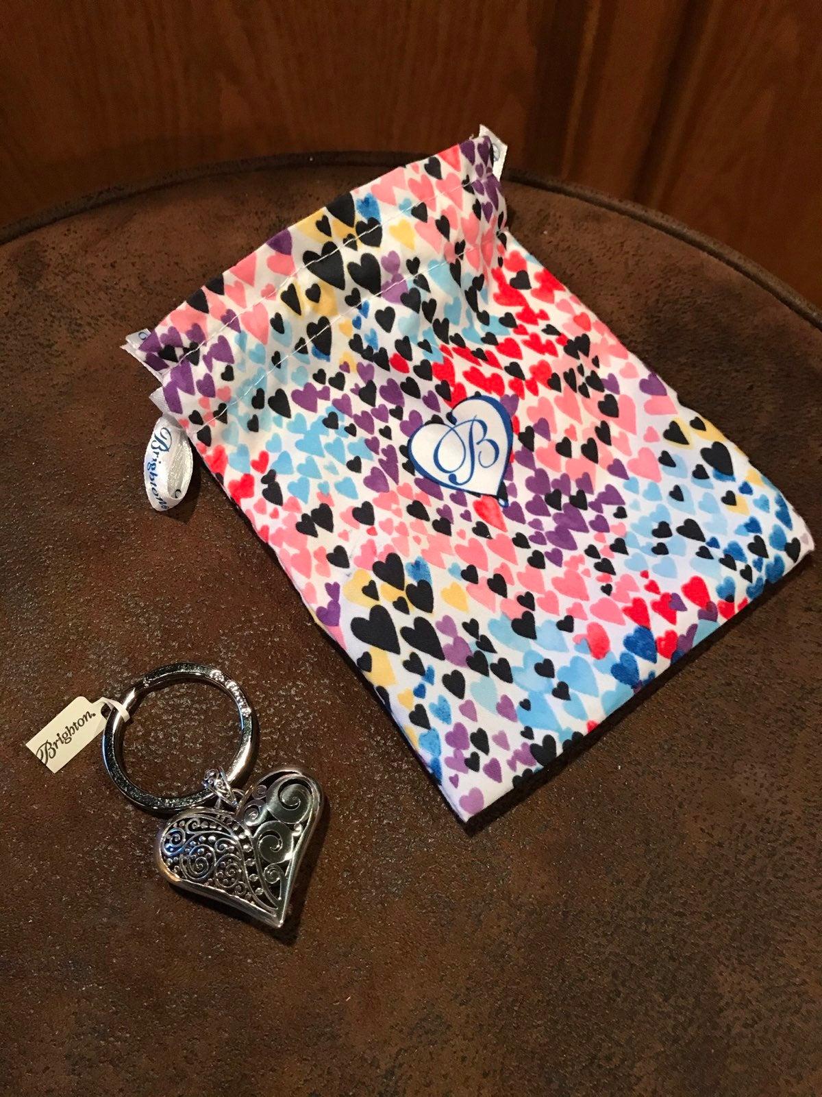 Brighton Silver Heart Keychain