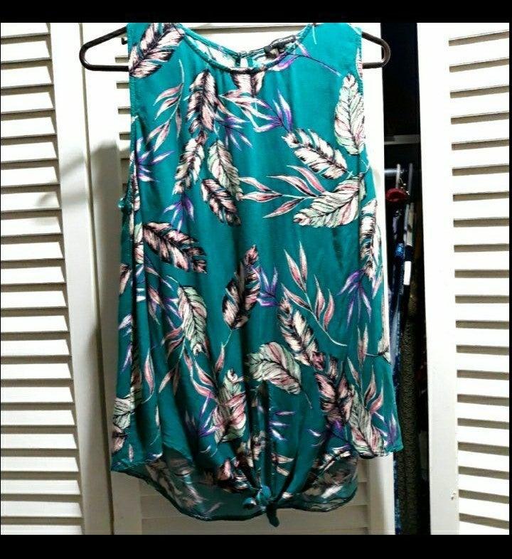 Pink Clover XL stitch fix blouse green