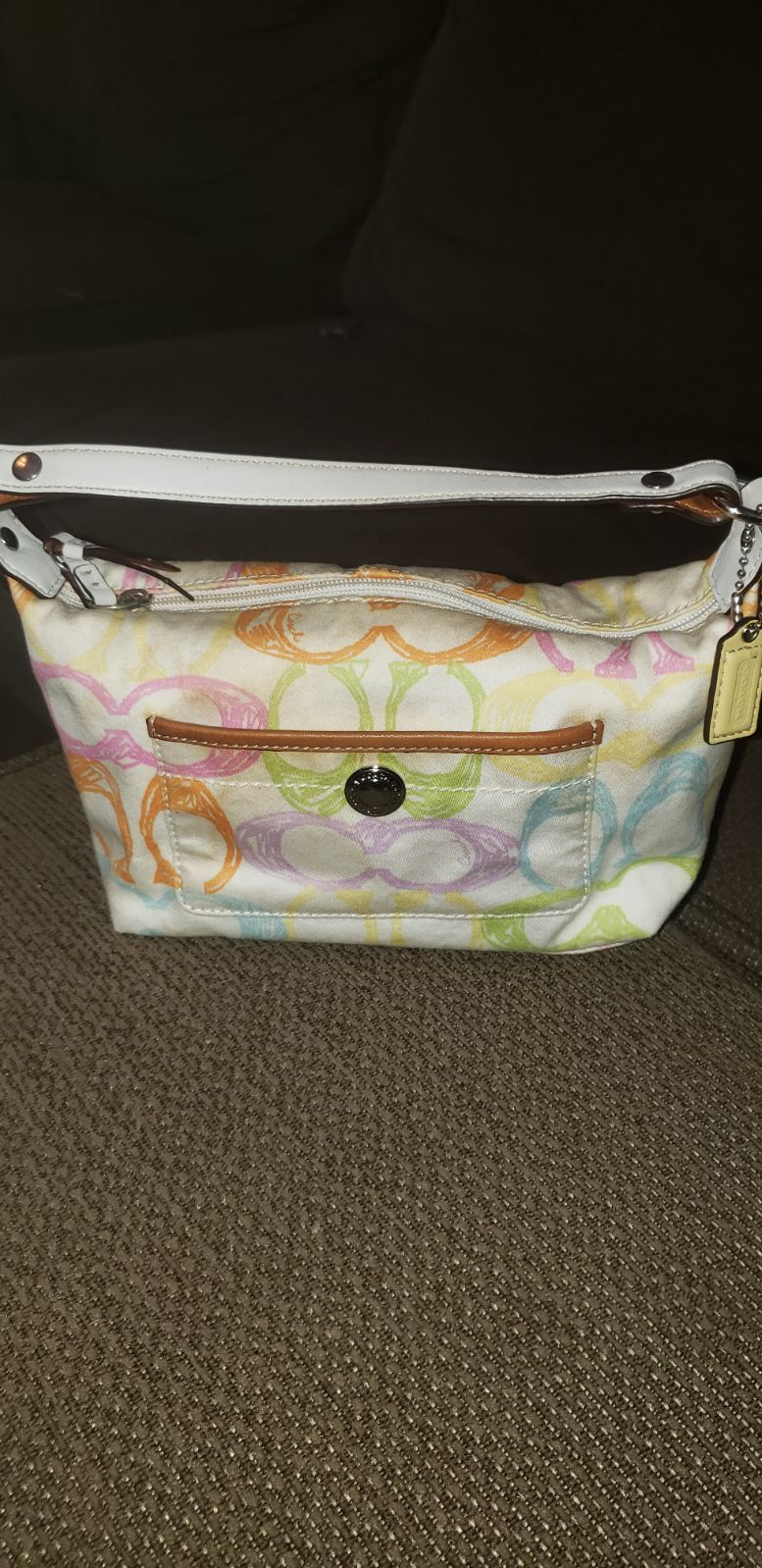 Colorful c coach purse