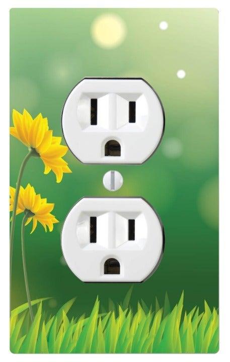 Yellow Daisy Outlet Switch Cover