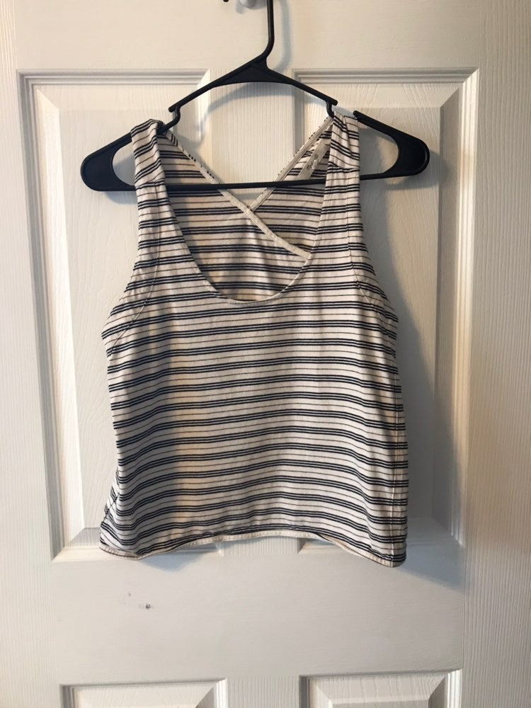 Madewell Striped Open Back Tank Top