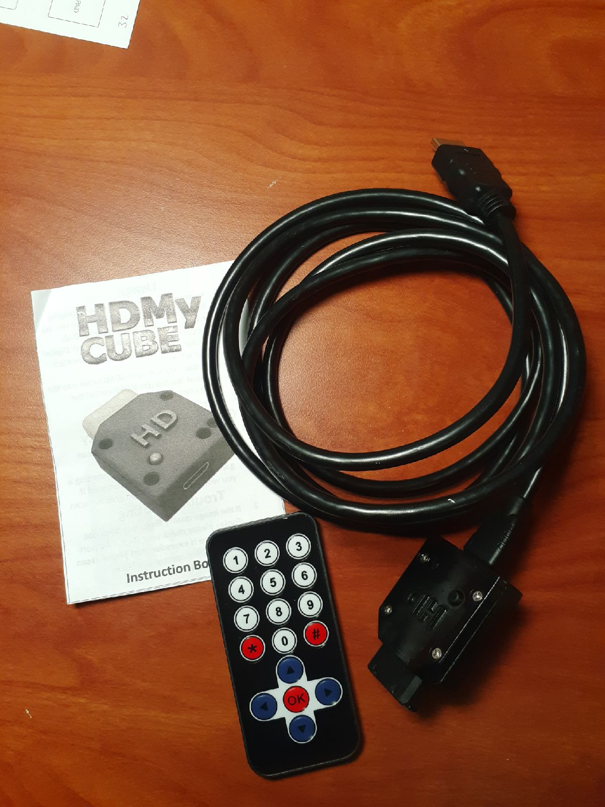 HDMy Cube cable, adapter, and controller