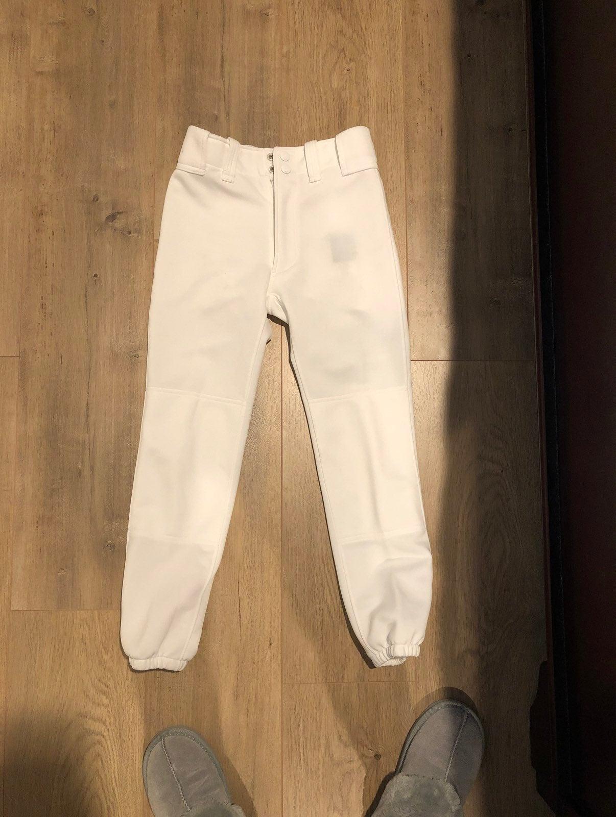 Boys white baseball pants - Y Medium