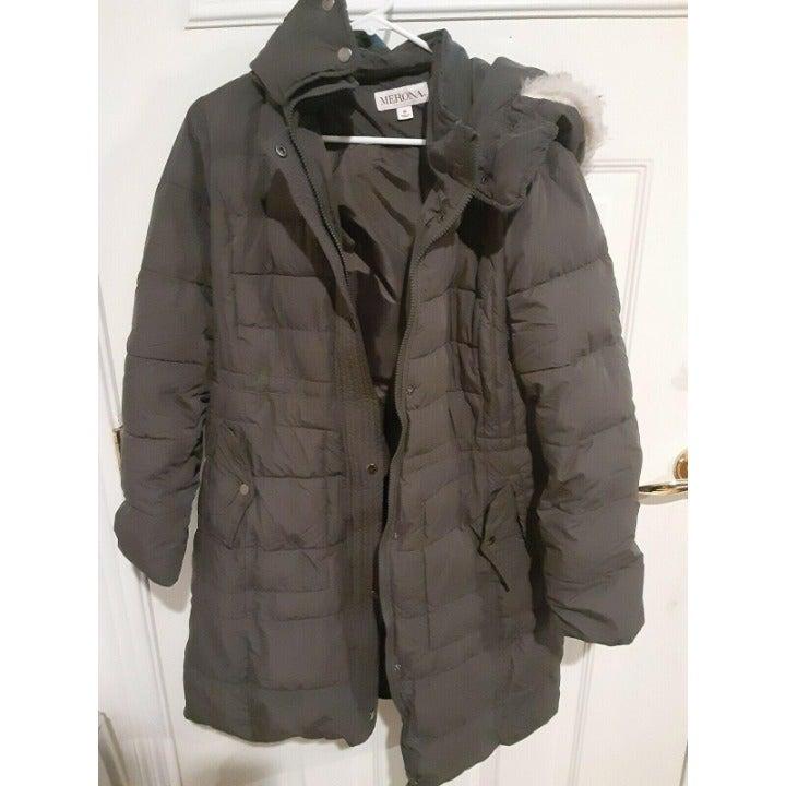 Merona Women's Trench Puffer jacket M