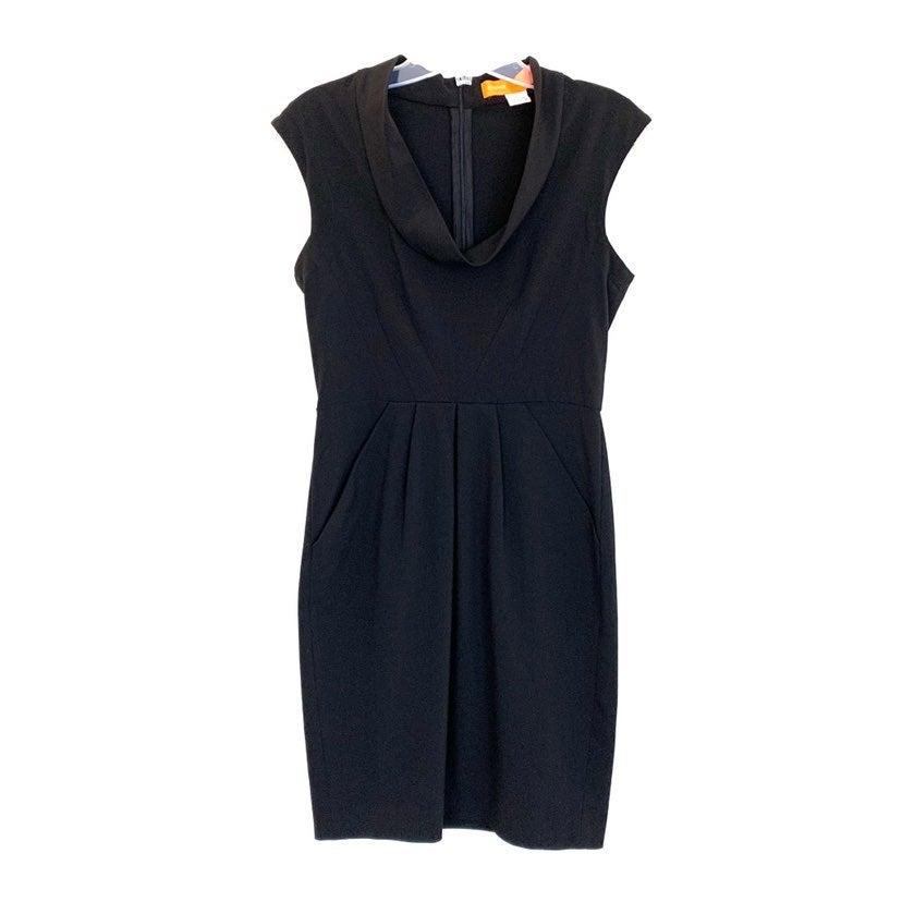 Cynthia Steffe Black Draped Neck Dress