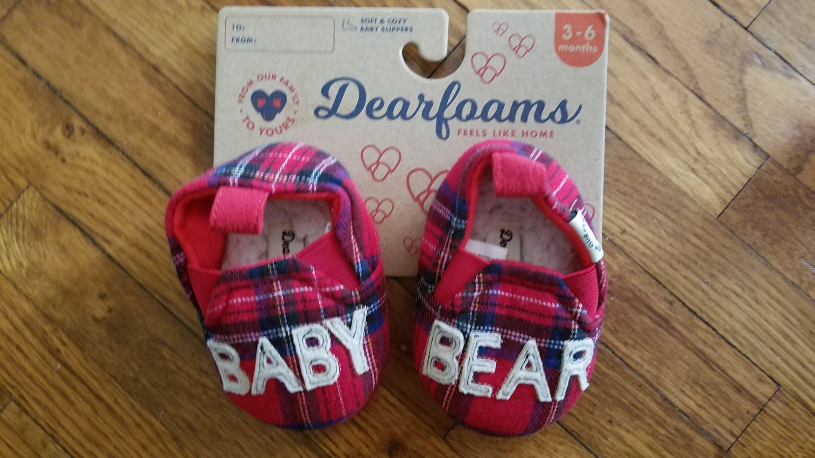 Baby Bear Slippers Christmas NEW