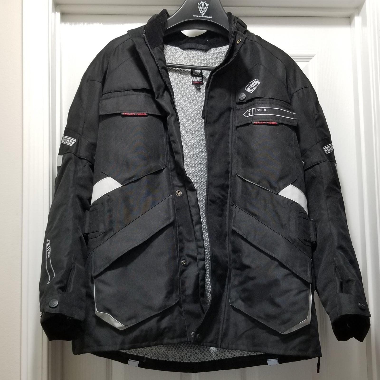 New Arlen Ness Ride Blk Armoured Jacket
