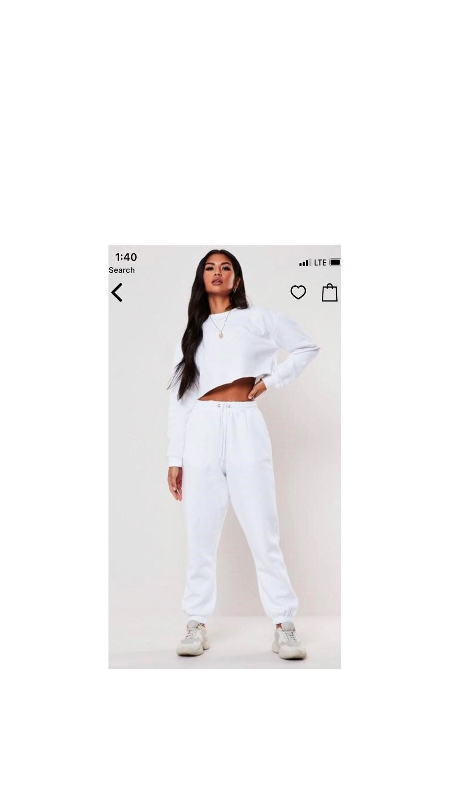 Missguided 90's White Joggers