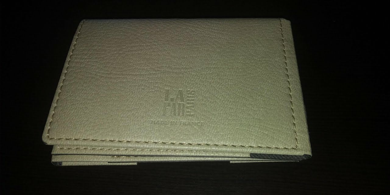 Four-Way Folding Wallet w/RFID-cream