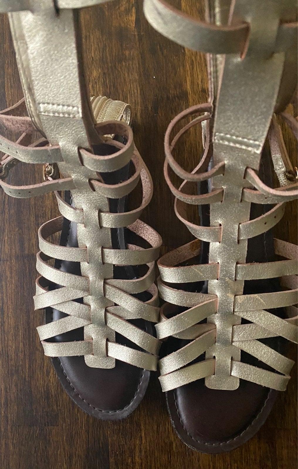 Candies gold gladiator sandals shoes siz