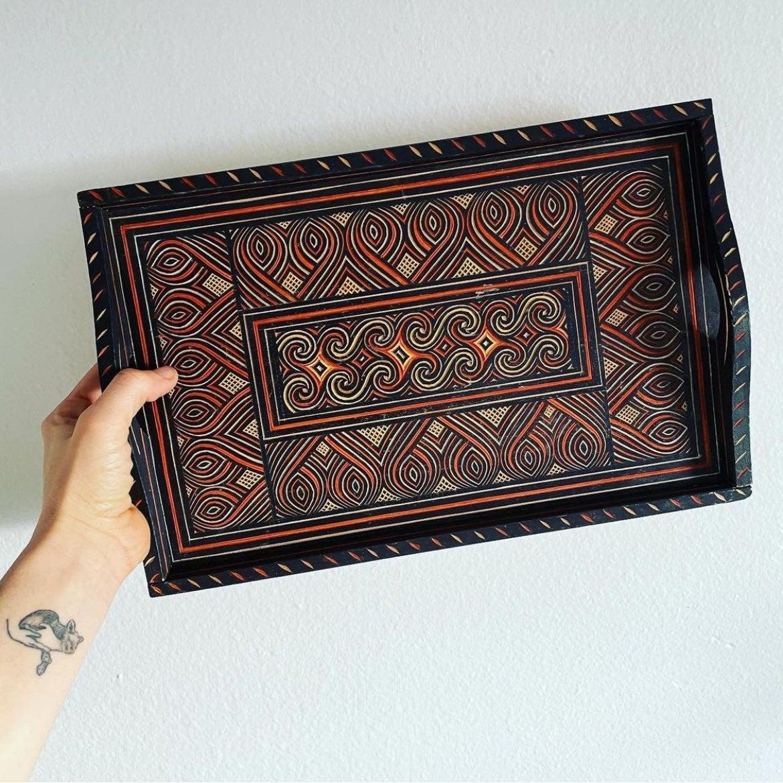 Tribal design tray