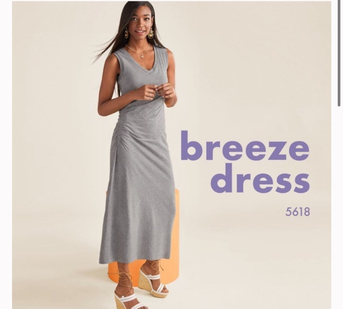 Cabi | Grey Breeze Rouched Maxi Dress S