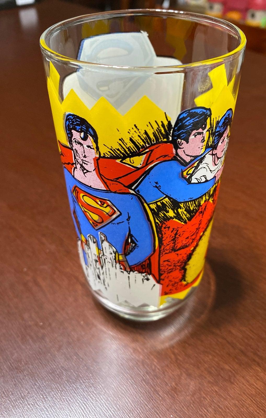 Superman The Movie Pepsi glass