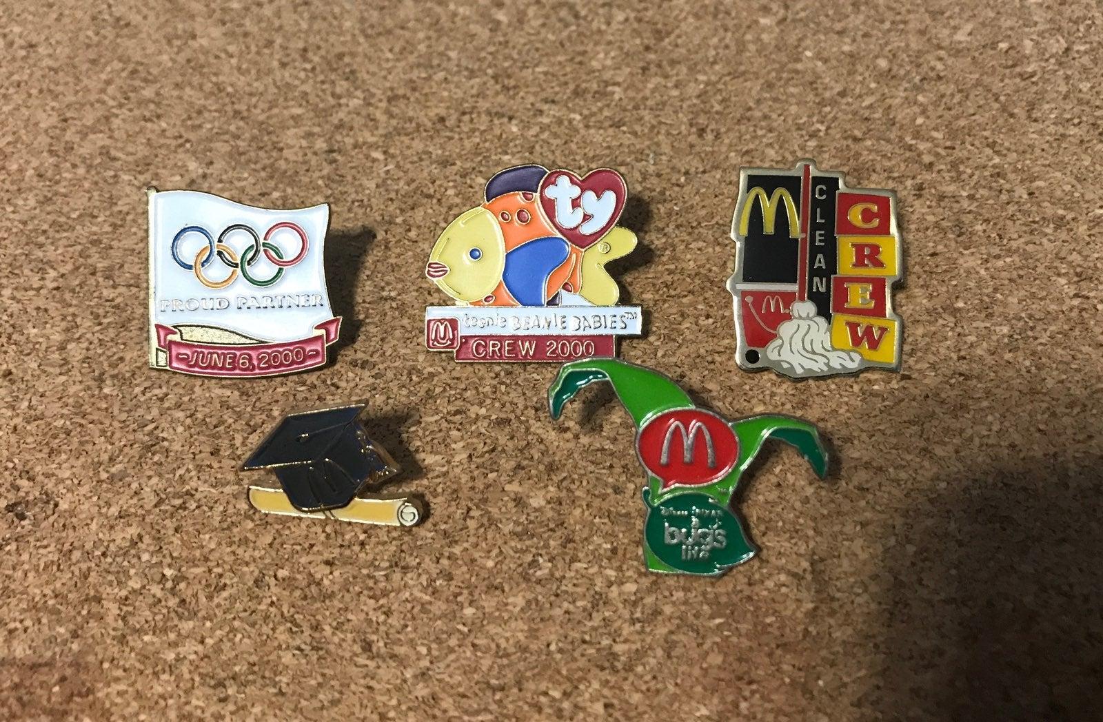 5 McDonalds Pins