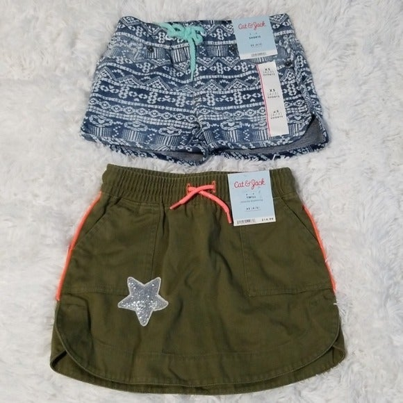 Toddler Girls XS Short & Skirt Bundle