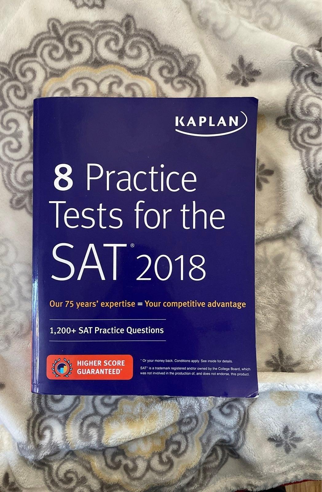 2018 Kaplan 8 Practice Tests for SAT