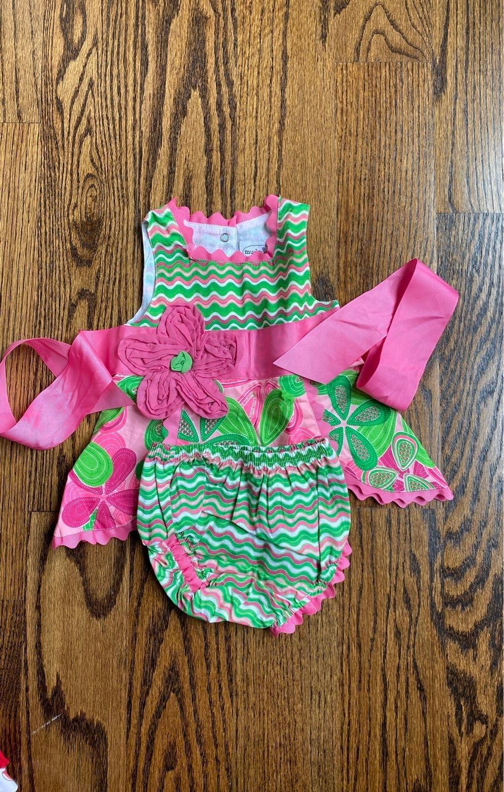Mud pie baby girl swing dress & bloomers