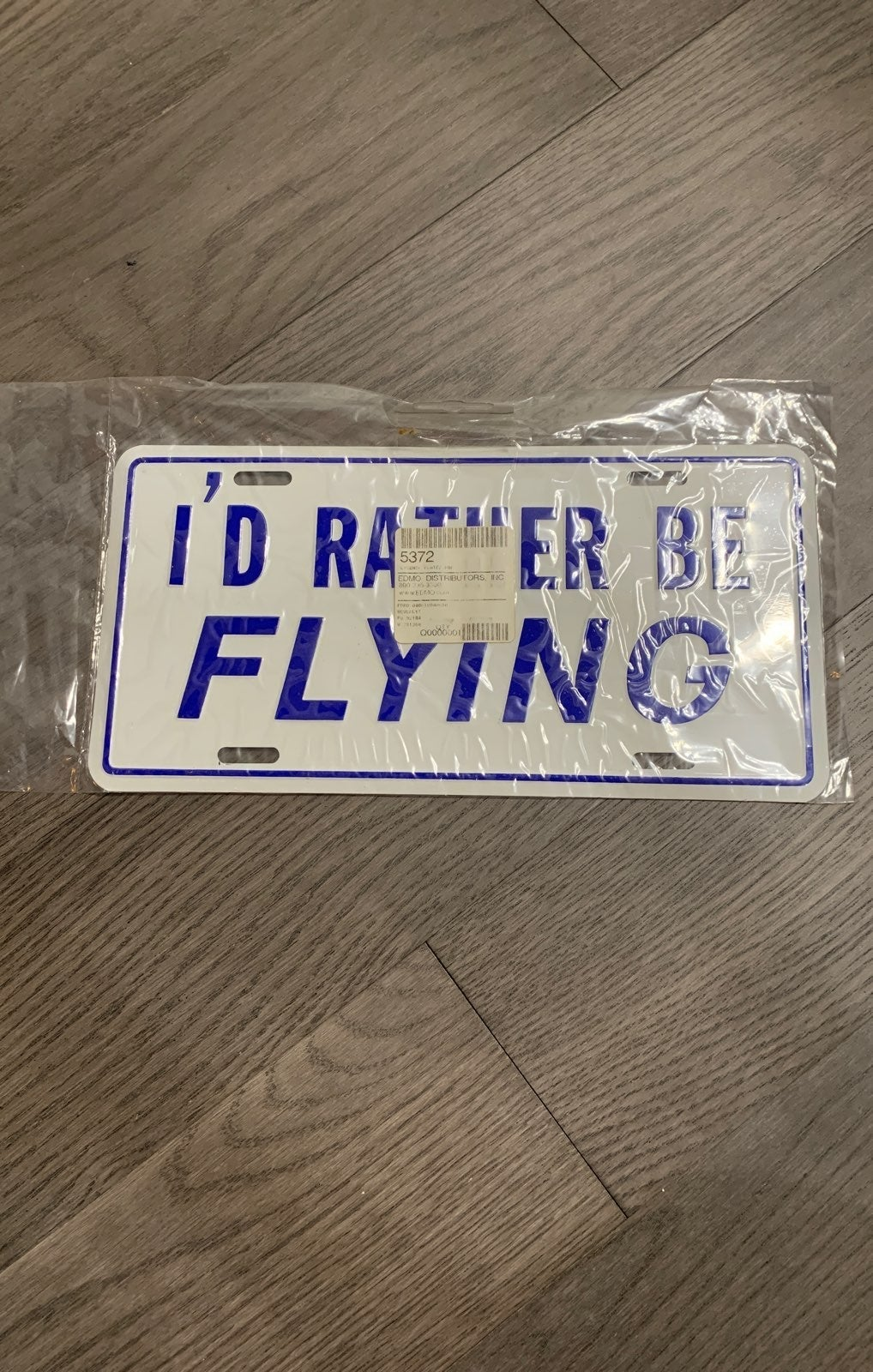 Id rather be flying license plate