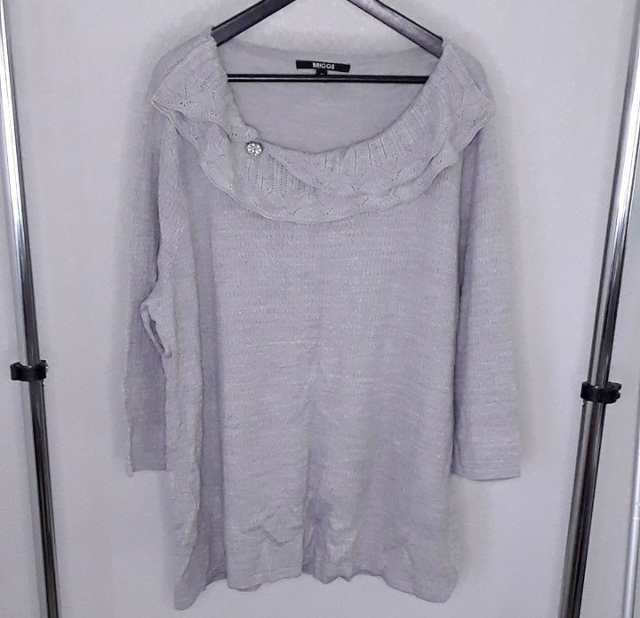 Briggs Soft Gray Sweater - size 2X