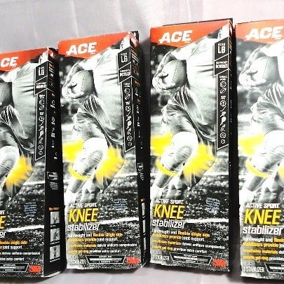 3M Ace Knee Stabilizer Size Large 4Pack
