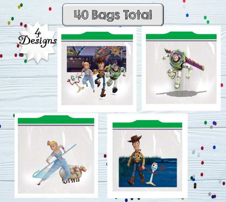 New Toy Story Ziploc Bags