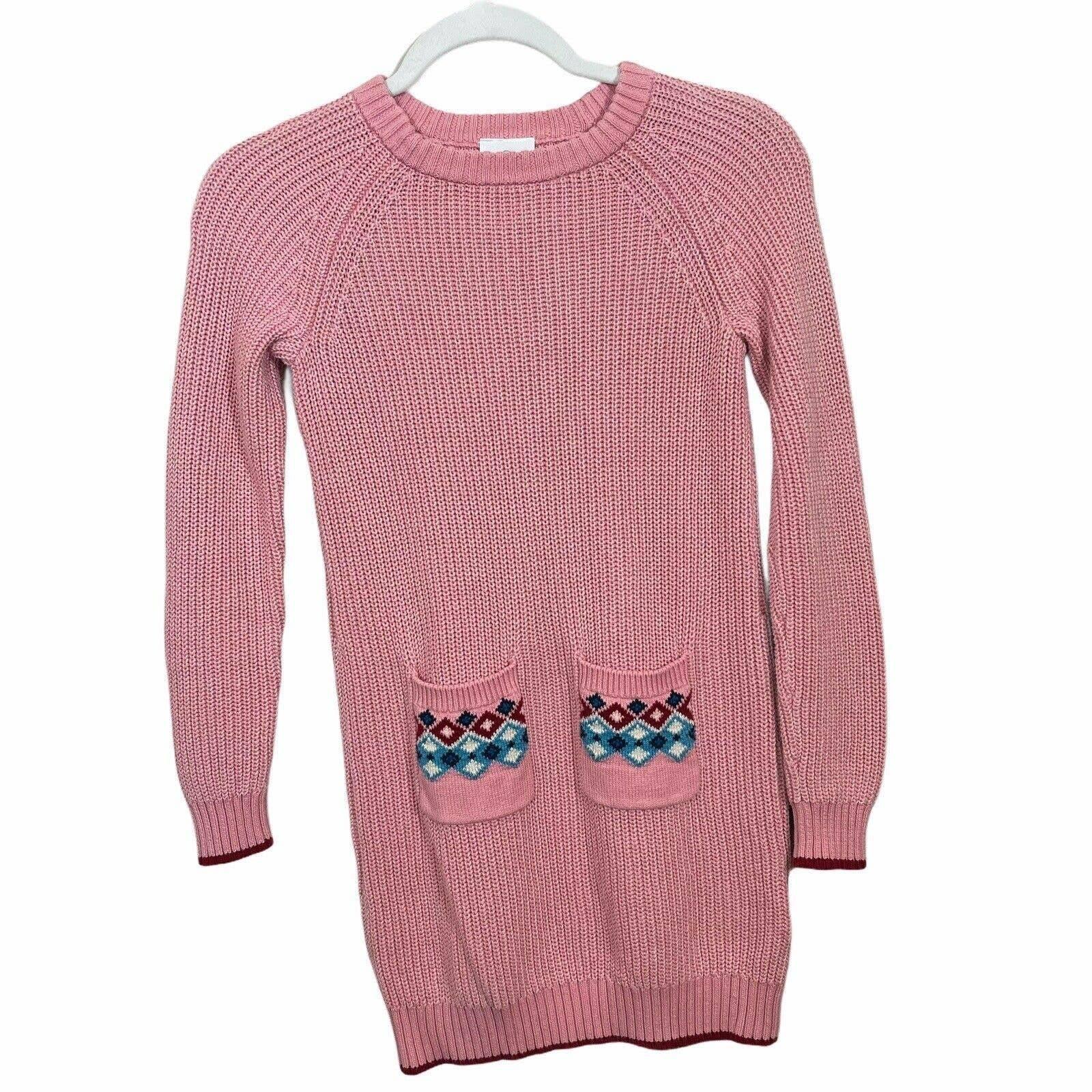 Hanna Andersson Sweater Dress Girl 130 8