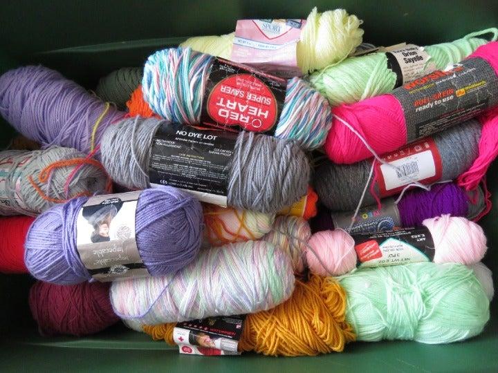 Crochet Yarn Lots Mix Bands Multicolor
