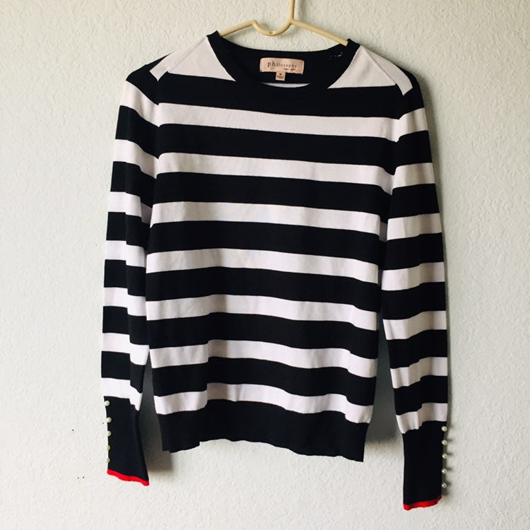Philosophy size M Striped Sweater