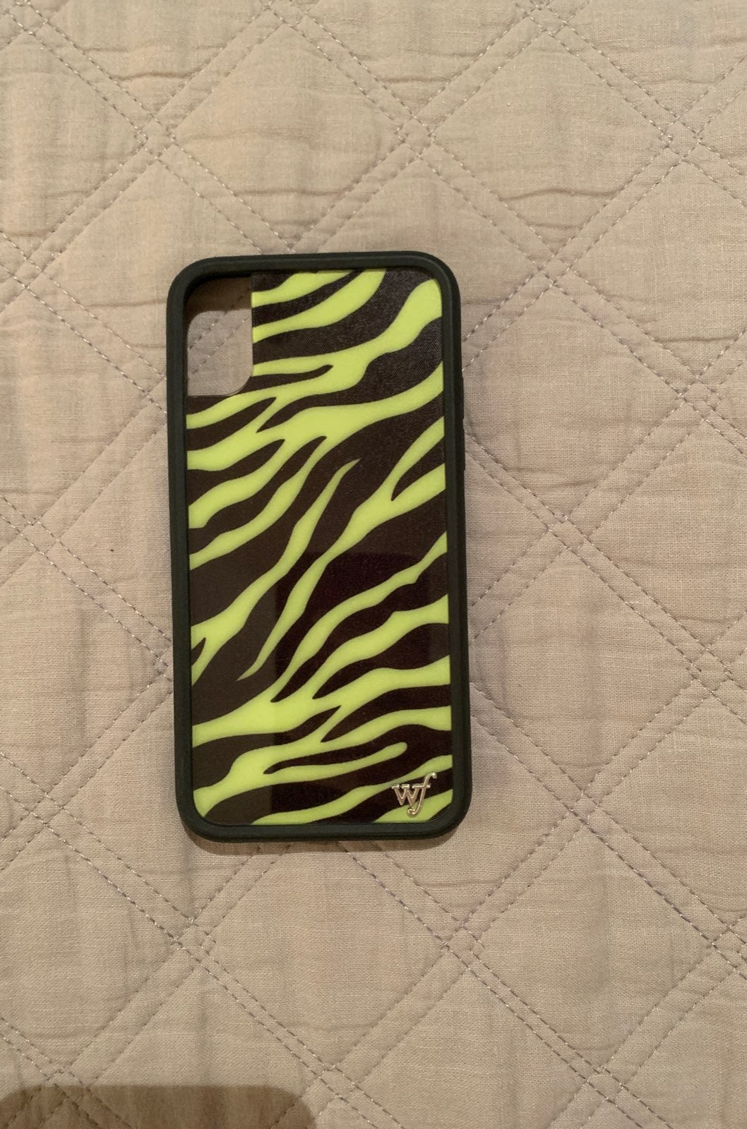 Wildflower neon zebra iphone XS case