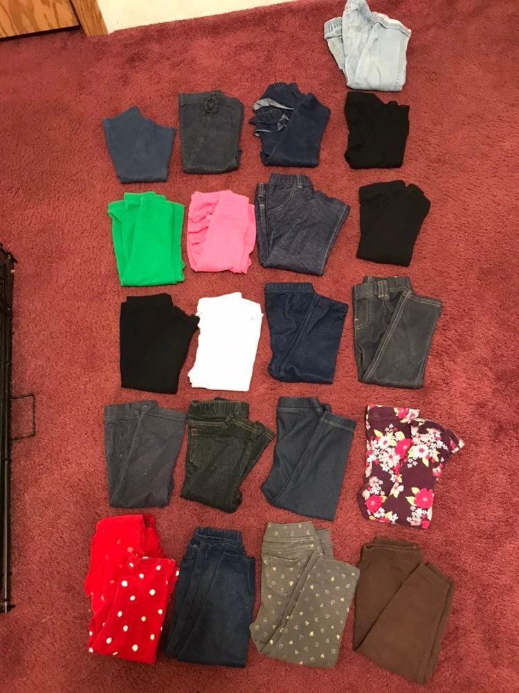 21 pairs of 18/24M girl pants