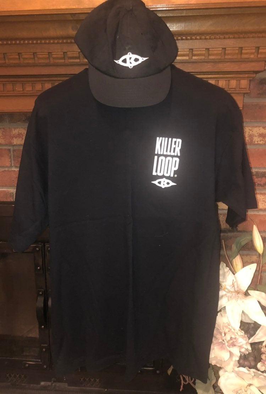 Killer Loop black t-shirt & hat