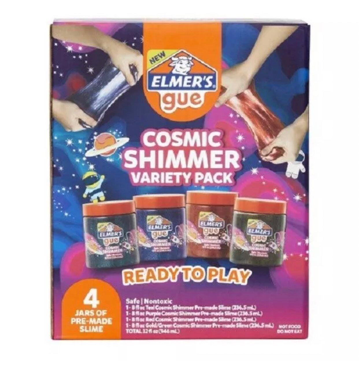 2 - 4pk Elmer's Gue Cosmic Shimmer Slime