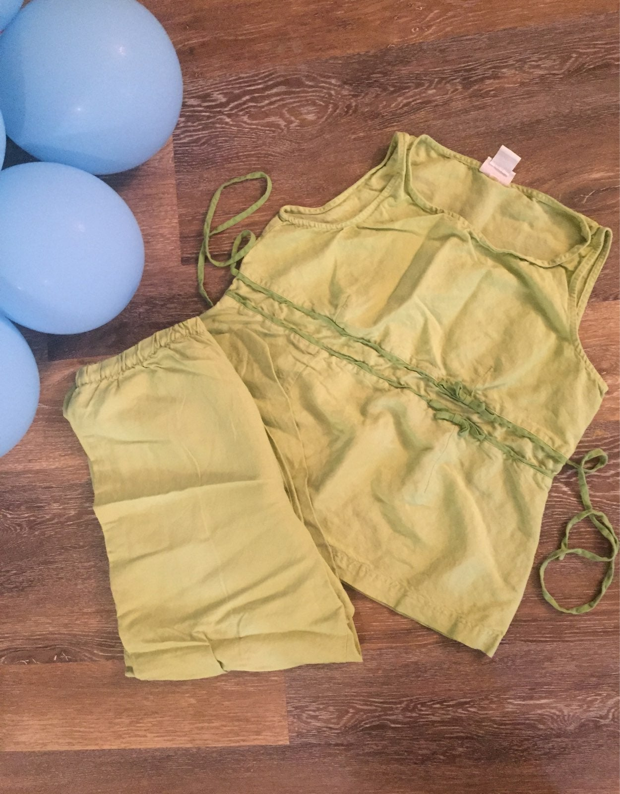 Sage green maternity outfit