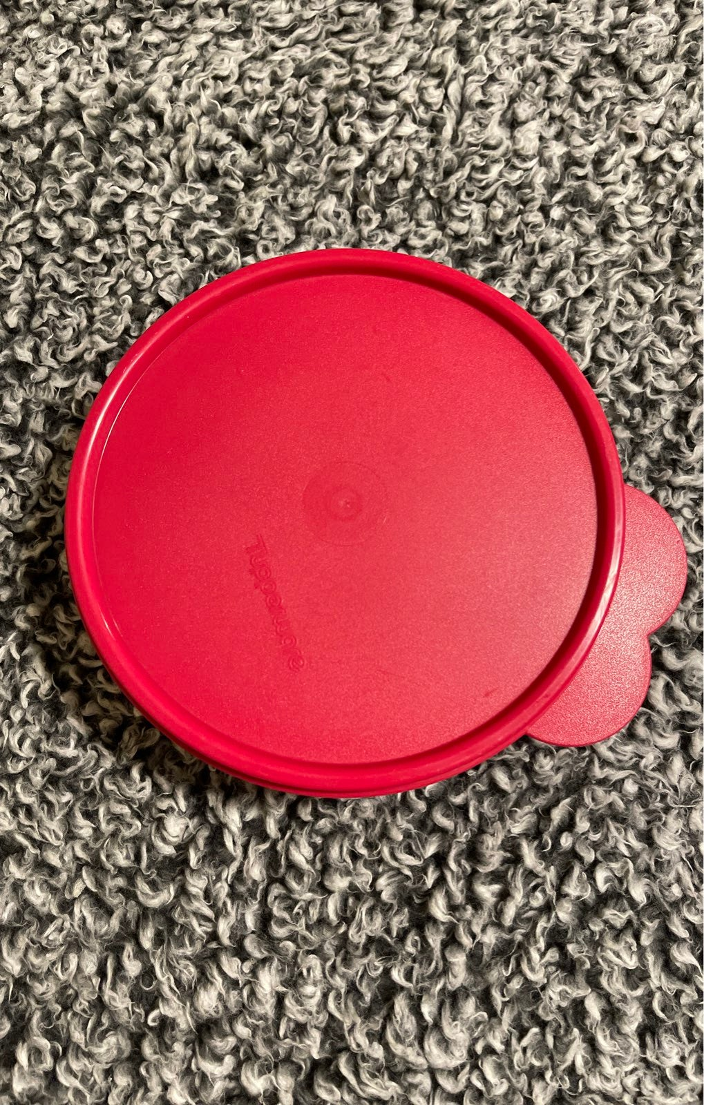 Tupperware Red Sparkle Bowl with Lid