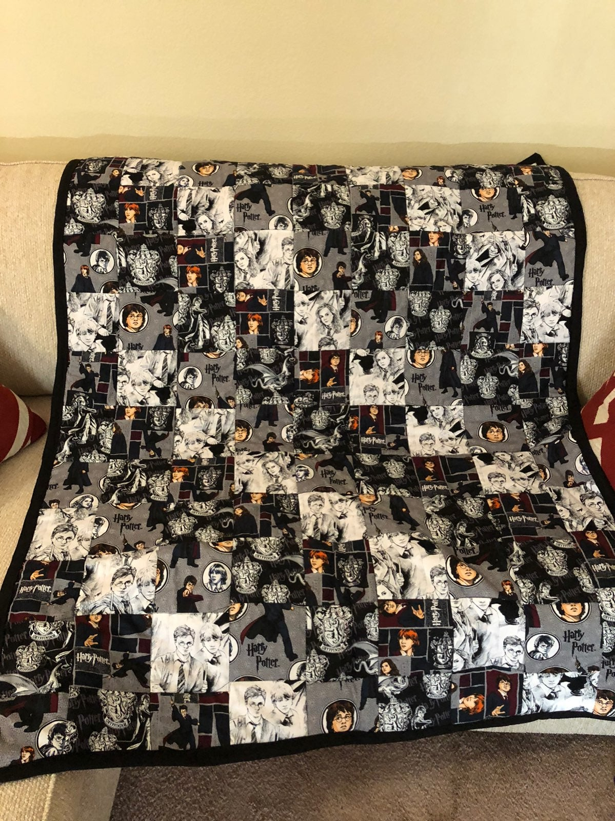 Harry Potter Quilted Throw