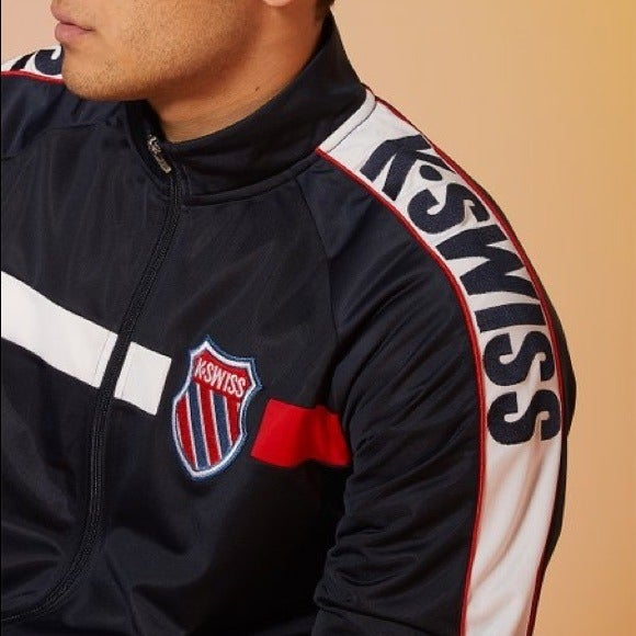 "{K.Swiss} Navy ""Old Goods"" track jacket"