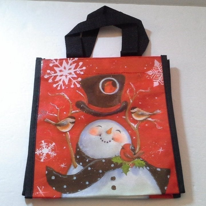 Snowman Small Lunch Tote Bag