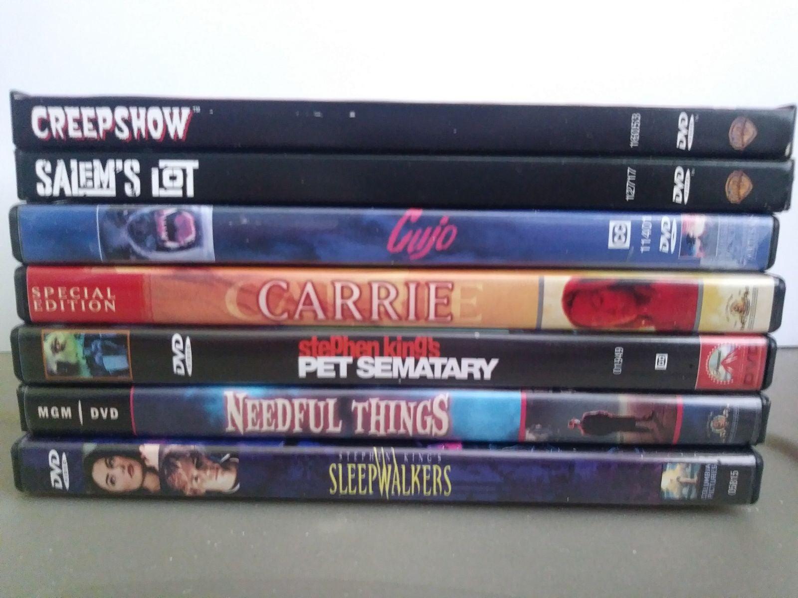 Stephen King Movie Lot 7 DVD Cujo Carrie